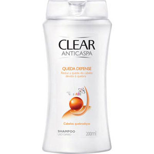 Shampoo Clear Anti-Caspa Queda Defense (Emb. contém 1un. de 200ml)