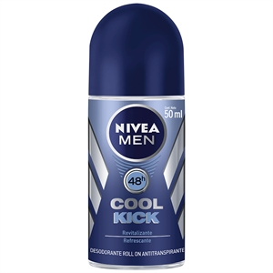 Desodorante Nivea Roll-On Masculino Cooll Kick (Emb. contém 1un. de 50ml)