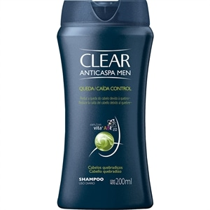 Shampoo Clear Anti-caspa Queda Control Men (Emb. contém 1un. de 200ml)