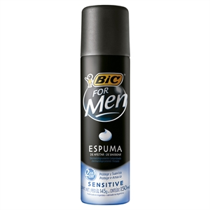 Espuma de Barbear BIC For Men Sensitive (Emb. contém 1un. de 150ml)