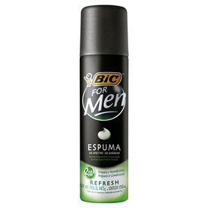 Espuma de Barbear BIC For Men Refresh (Emb. contém 1un. de 150ml)