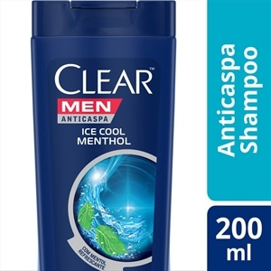 Shampoo Clear Anti-Caspa Ice Cool Menthol Men (Emb. contém 1un. de 200ml)