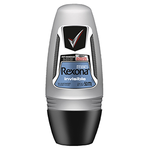 Desodorante Rexona Roll-On Men Invisible (Emb. contém 1un. de 50ml)