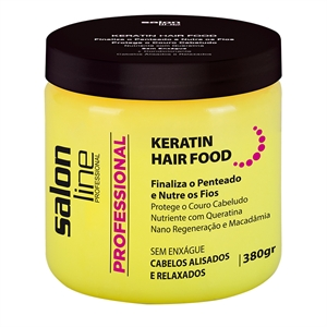 Pomada Salon Line Keratin Hair Food Nutrition (Emb. contém 1un. de 380g)