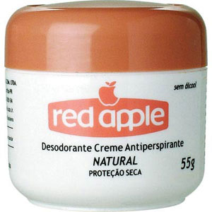Desodorante Red Apple Creme Natural Rosa (Emb. contém 1un. de 55g)