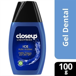 Creme Dental Close Up Liquifresh Ice Azul (Emb. contém 12un. de 100g cada)