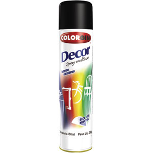 Tinta Spray Colorgin Decor 8591 Amarelo (Emb. contém 1un. de 360ml)