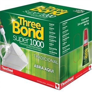 Cola Three Bond 1000 SM (Emb. contém 24un. de 2g cada)
