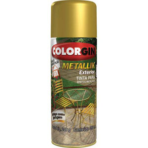 Tinta Spray Colorgin Metallik  52 Ouro (Emb. contém 1un. de 350ml)