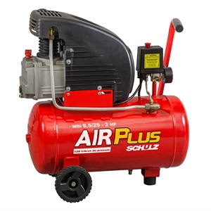 Compressor de Ar Schulz MSI-8 5/25 2.0CV 60Hz Air Plus 127V (Emb. contém 1un.)