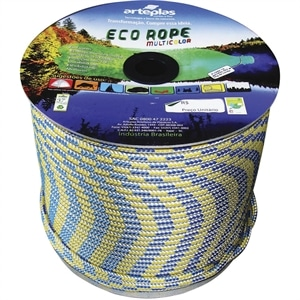 Corda Carretel Eco Rope Colorida 10mm x 165m (Emb. contém 1un.) - Arteplas