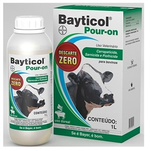 Bayticol Bayer Pour-On Carrapaticida Flumetrina 1 (Emb. contém 1un. de 1 Litro)