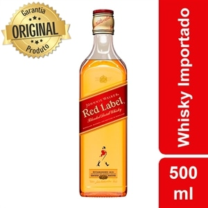 Whisky Importado Johnnie Walker Red Label 8 anos (Emb. contém 1un. de 500ml)