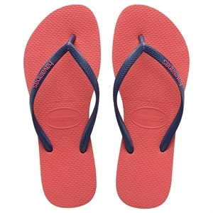 Sandália Havaianas Slim Logo Pop-Up Coral New 37/38 (Emb. contém 1 par)