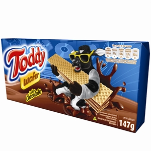Biscoito Toddy Wafer Chocolate (Emb. contém 40un. de 147g cada)