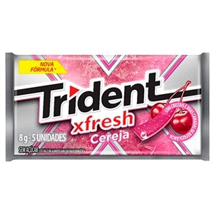 Chicle Trident Fresh Cereja (Emb. contém 21un.)