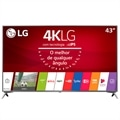 "Smart TV LED 43"" LG 43UJ6525 4K Ultra HD HDR com Wi-Fi, 120Hz, 2 USB, 4 HDMI, DTV e IPS"