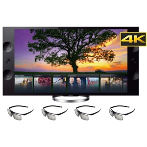 "Smart TV 65"" LCD LED XBR-65X905A Wifi Ultra HD com 4 Oculos 3D 960Hz (Emb. contém 1un.) - Sony"