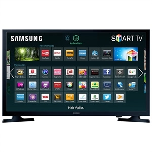 "Smart TV 32"" Samsung LCD LED UN32J4300AGXZD HD WiFi  1 USB  2 HDMI  DTV  60Hz  Screen Mirroring (Emb. contém 1un.)"
