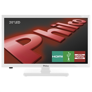 "TV 20"" LCD LED PH20U21DB HD   2 HDMI   1 USB   DTV   Branca (Emb. contém 1un.) - Philco"