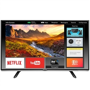 "Smart TV 40"" LCD LED Panasonic Viera TC-40DS600B  Full HD  Wi-FI  2 HDMI  USB (Emb. contém 1un.)"
