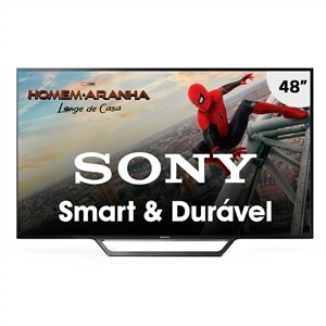 "Smart TV 48"" Sony LCD LED KDL-48W655D Full HD  WiFi  HDMI USB Motionflow 240 x Reality Pro (Emb. contém 1un.)"