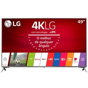 "Smart TV 49"" LCD LED LG 49UJ6525  4K Ultra HD - 4 HDMI  2 USB  HDR (Emb. contém 1un.)"