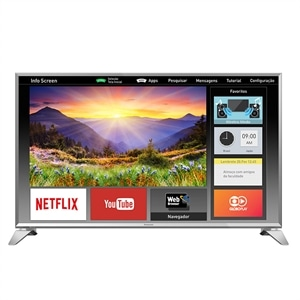 "Smart TV 43"" Panasonic LCD LED TC-43ES630B  Full HD  3 HDMI  2 USB (Emb. contém 1un.)"
