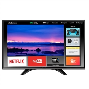 "Smart TV 32"" LCD LED Panasonic TC-32ES600B  HD  3 HDMI  2 USB (Emb. contém 1un.)"