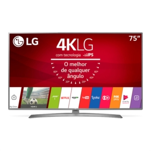 "Smart TV 75"" LCD LED LG 75UJ6585 4K Ultra HD HDR com WiFi 2 USB 4 HDMI IPS 120Hz (Emb. contém 1un.)"
