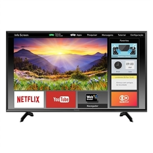 "Smart TV 40"" LCD LED Panasonic TC-40ES600B  Full HD  3 HDMI  2 USB (Emb. contém 1un.)"
