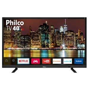 "Smart TV 40"" LCD LED Philco PTV40E21DSWN FULL HD  HDMI  USB (Emb. contém 1un.)"