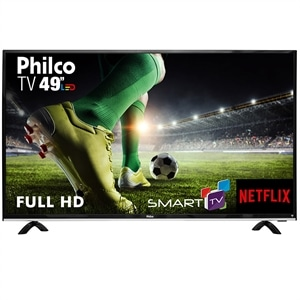 "Smart TV 49"" LCD LED Philco PTV49E68DSWN  Full HD  Wi-Fi  3 HDMI  USB (Emb. contém 1un.)"