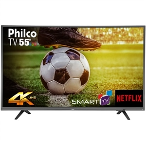 "Smart TV 55"" LED Philco PTV55U21DSWNT 4K Ultra HD com Wi-Fi 2 USB 3 HDMI"