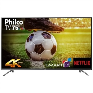 "Smart TV 75"" LCD LED Philco PTV75E30DSWN 4K UHD 3HDMI 2USB Netflix (Emb. contém 1un.)"