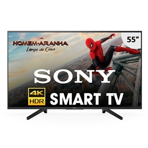 "Smart TV LED 55"" Sony 4K HDR KD-65X755F com Wi-Fi  3 USB  3 HDMI  Motionflow XR 240  X-Reality e X-Protection PRO"