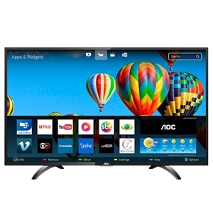 "Smart TV LED 43"" AOC LE43S5970S Full HD com Wi-Fi  2 USB  3 HDMI e 60Hz"