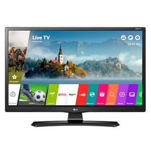 "Smart TV LED 24"" LG 24MT49S-PS HD com Wi-Fi  USB  2 HDMI  Função Monitor Screen Share e Cinema Mode"