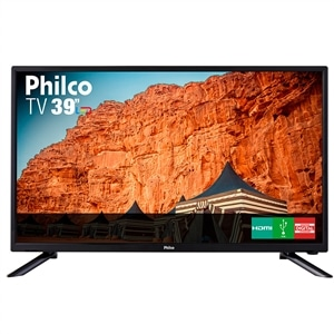 "TV 39"" LED Philco PTV39N91D HD com Conversor Digital  2 HDMI  2 USB  Som Surround  60Hz"