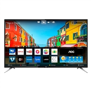"Smart TV LED 55"" AOC LE55U7970S 4K Ultra HD com Wi-Fi  2 USB  4 HDMI  Sleep Timer e 60Hz"