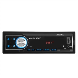 Som Automotivo Multilaser P3326 New Max Entrada USB  Auxiliar e SD Card  Bluetooth e Rádio FM
