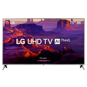 "Smart TV 75"" LCD LED LG 75UK6550 4K  4 HDMI  2 USB (Emb. contém 1un.)"