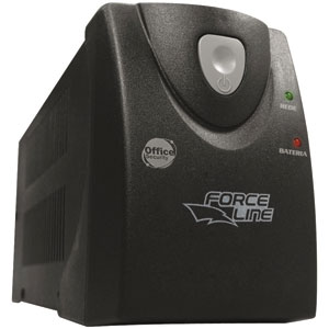 Nobreak Force Line Office Security Plus 1500VA  4 Tomadas  Preto Bivolt 110V (Emb. contém 1un.)