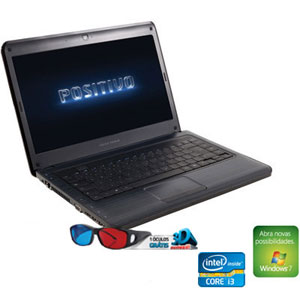 "Notebook Positivo N8145  Intel Core i3-2310M  Tela 14""  6GB RAM  HD 750GB  LED DVD-RW  Windows 7 Basic (Emb. contém 1un.)"