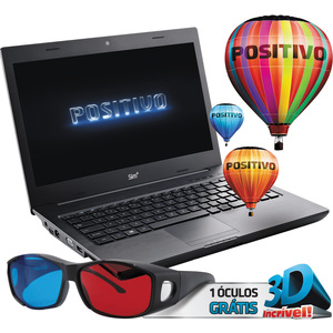 "Notebook Sim 970M AMD Vision Dual Core C-60  Tela 14""  4GB RAM  HD 320GB  3D LED DVD-RW Linux (Emb. contém 1un.)"
