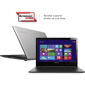 "Notebook Lenovo S400 Core I5 Ultrafino  4GB  HD 500GB  Tela LED 14"" Windows 8 Prata (Emb. contém 1un.)"