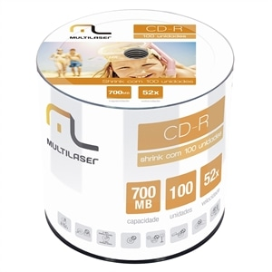 CD-R Multilaser Shrink 700MB 52x - (Emb. contém 50un.)