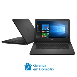 "Notebook I14-5458-B08P  Tela 14""  Intel Core i3  4GB RAM  HD 1TB  Windows 10  Preto Texturizado (Emb. contém 1un.) - Dell"