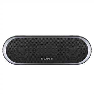 Caixa de Som Sony Speaker SRS-XB20 Preto  Bluetooth  Wireless  NFC  20W RMS  Extra Bass  Led Multicolorido Resistente a Água