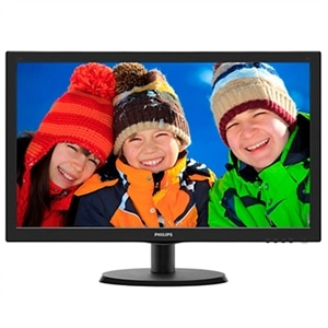 "Monitor 21.5"" Philips 223V5LHSB2  LED  Widescreen  VGA  HDMI  Vesa  Preto (Emb. contém 1un.)"